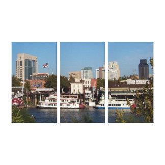 Sacramento, impresión de la lona de CA Lona Envuelta Para Galerias