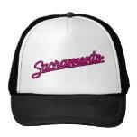 Sacramento in magenta trucker hats