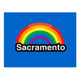 SACRAMENTO LGBT PRIDE RAINBOW POST CARD