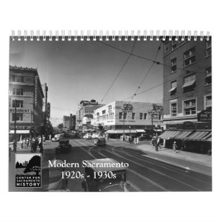 Sacramento moderna, los años 20 - los años 30 calendario de pared