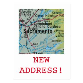Sacramento New Address announcement Postcard