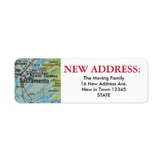 Sacramento New Address Label