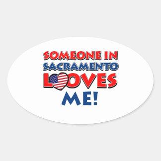 SACRAMENTO.png Oval Sticker