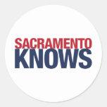 Sacramento sabe pegatina