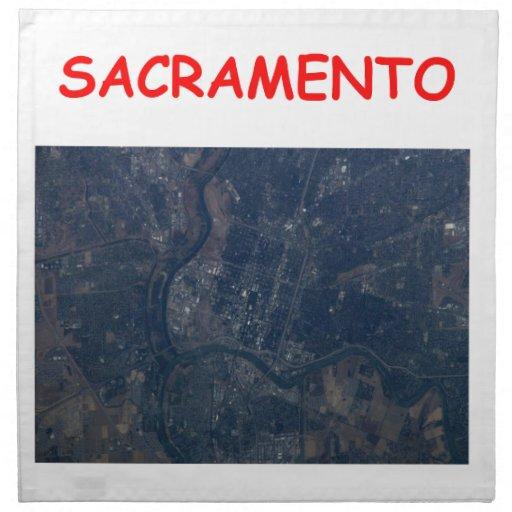Sacramento Servilletas Imprimidas