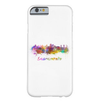 Sacramento skyline in watercolor barely there iPhone 6 case