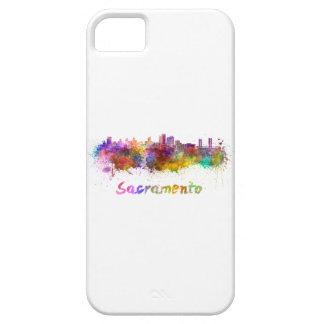 Sacramento skyline in watercolor iPhone SE/5/5s case