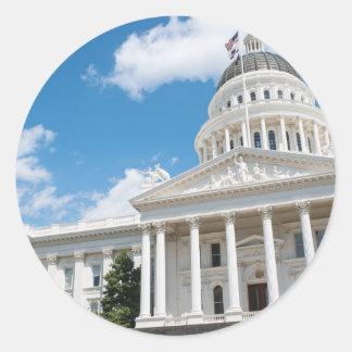 Sacramento State Capitol of California Classic Round Sticker