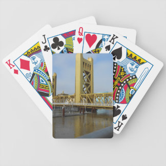 Sacramento Tower Bridge Bicycle Playing Cards
