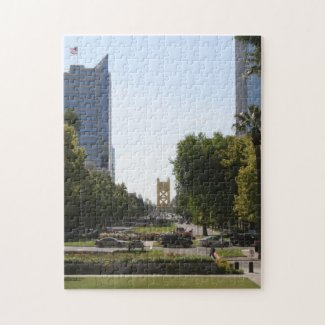 Sacramento: Tower Bridge from Capitol Mall Jigsaw Puzzle