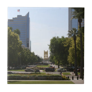 Sacramento: Tower Bridge from Capitol Mall Tile