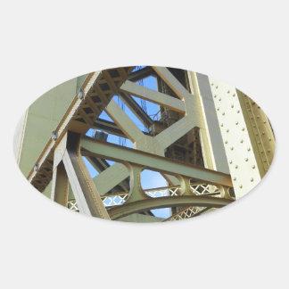 Sacramento Tower Bridge Oval Sticker