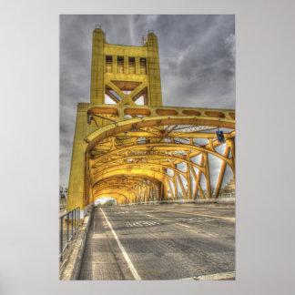 Sacramento Tower Bridge Poster