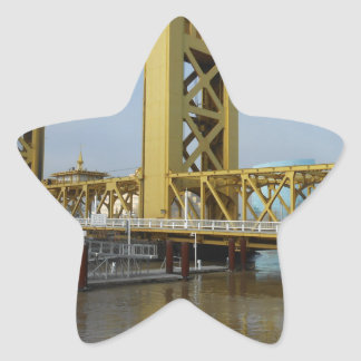 Sacramento Tower Bridge Star Sticker