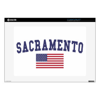 Sacramento US Flag Decals For Laptops
