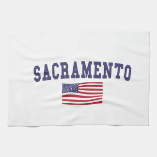 Sacramento US Flag Kitchen Towel