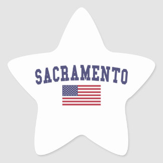 Sacramento US Flag Star Sticker