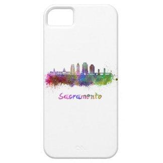 Sacramento V2 skyline in watercolor iPhone SE/5/5s Case