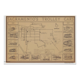 Sacramento's Tolley Cars, 1890-1947 Poster