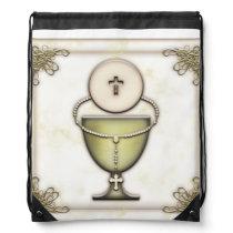 Sacraments Drawstring Backpack