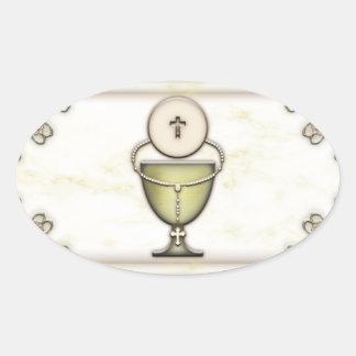 Sacraments Oval Sticker