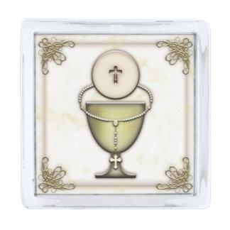 Sacraments Silver Finish Lapel Pin