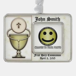 Sacraments Silver Plated Framed Ornament