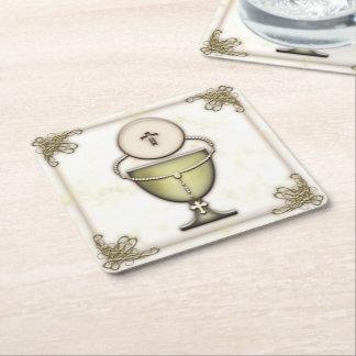 Sacraments Square Paper Coaster