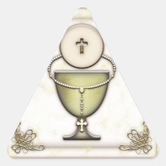 Sacraments Triangle Sticker
