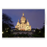 Sacre Coeur at night Cards