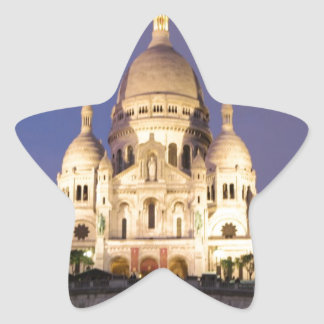 Sacre Coeur at night Sticker