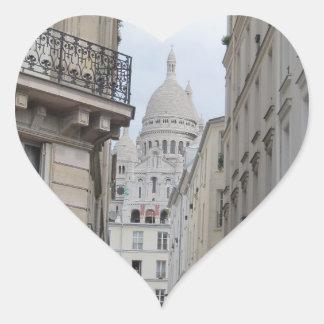 Sacre Coeur Basilica Dome, Paris Heart Sticker