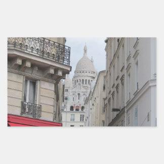 Sacre Coeur Basilica Dome, Paris Rectangular Sticker