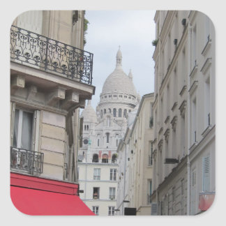 Sacre Coeur Basilica Dome, Paris Square Sticker