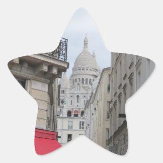 Sacre Coeur Basilica Dome, Paris Star Sticker