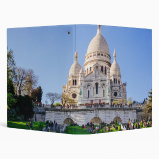 Sacre Coeur Basilica, French Architecture, Paris 3 Ring Binder