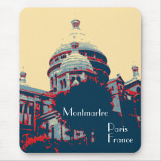 Sacré-coeur Basilica Montmartre Mousepad at Zazzle