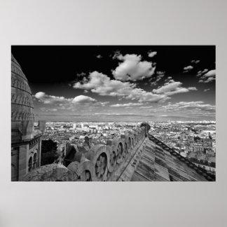 Sacre Coeur - Black & White (V) Poster