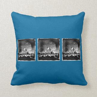 Sacre Coeur BW Throw Pillow