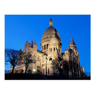 Sacre Coeur during twilight Postcard