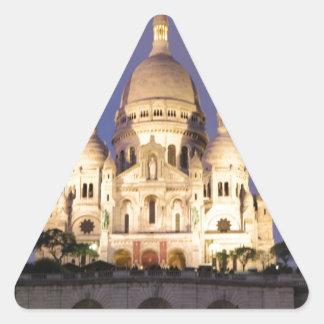Sacre Coeur en la noche Pegatinas Trianguloes