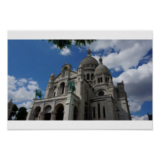 Sacre Coeur in all her majesty, Paris Poster
