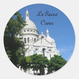 Sacre Coeur, Le Sacre Coeur Classic Round Sticker