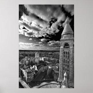 Sacre Coeur - negro y blanco (iv) Póster