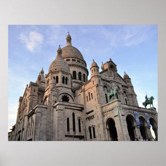 Sacre Coeur Sacred Heart Basilica Paris France Poster