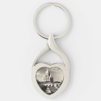 Sacré-Coeur Vintage Photo Paris Keychain