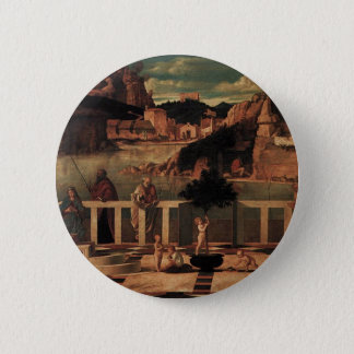 Sacred Allegory by Giovanni Bellini Pinback Button