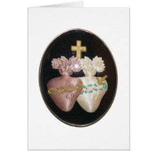 SACRED AND IMMACULATE HEARTS GREETING CARD