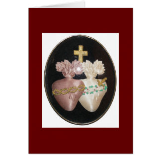 SACRED AND IMMACULATE HEARTS CARD