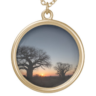 Sacred Baobabs Gold Plated Necklace